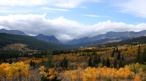 The view from Route 89 on the East edge of Glacier National Park