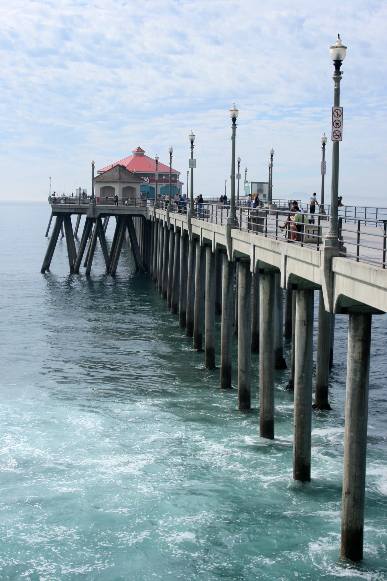 Beach Pier Drawing The Pier at Huntington Beach